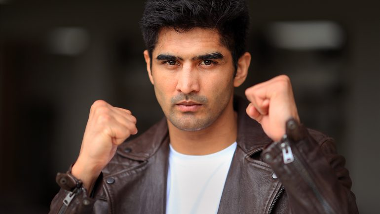 Vijender Singh is proud to hold up India in his U.S. pro Debut this Saturday in Newark
