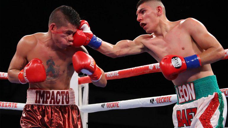 Watch: all-action junior featherweight fight: Alberto Melian vs. Leonardo Baez