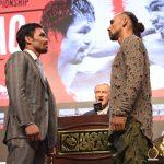 Pacquiao Thurman final press staredown pic 150x150 - Watch: Manny Pacquiao-Keith Thurman final press conference highlights