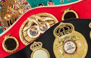 boxing belts 300x192 - The Boxing Esq. Podcast, Ep. 29: Boxing historian Herbert Goldman