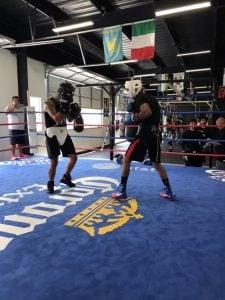 "eduardo hernandez sparring with brandon valdes 225x300 - Eduardo ""Rocky"" Hernandez ready for second U.S. appearance on Vargas-Kameda undercard"