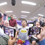 manny pacquiao media workout 150x150 - Watch: Manny Pacquiao says Keith Thurman's talk is motivating him