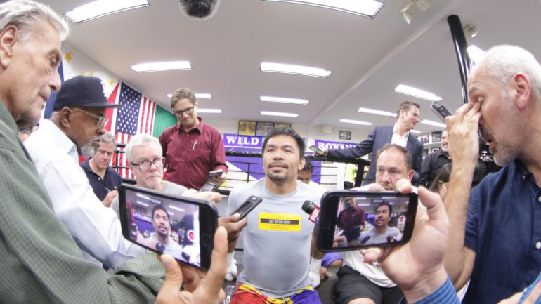 Watch: Manny Pacquiao says Keith Thurman's talk is motivating him