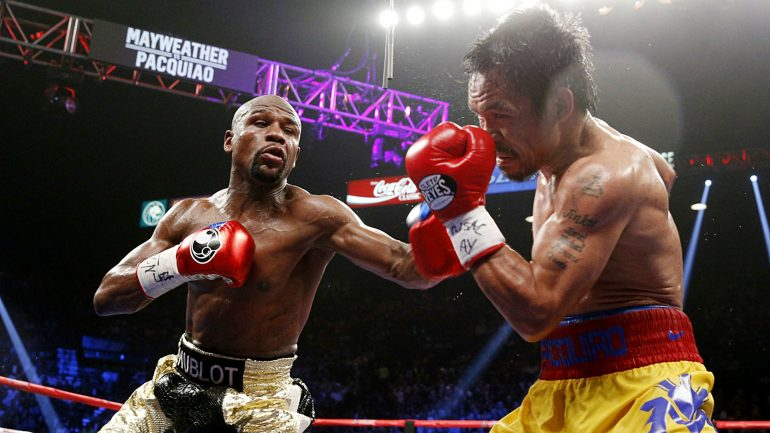 Floyd Mayweather Jr. throws jab at Manny Pacquiao coverage; 'Pac Man' counters with rematch call