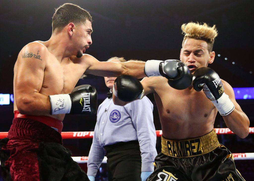 Adan Gonzales pulled off upset by beating two-time Olympic gold medalist Robeisy Ramirez. Photo by Mikey Williams/Top Rank