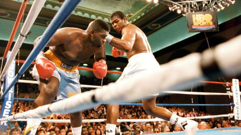 On This Day: Riddick Bowe perilously close to DQ loss in controversial Buster Mathis Jr. bout