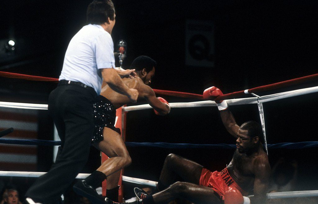 GettyImages 163602059 1024x657 - On this day: Nigel Benn batters Iran Barkley, scores first-round stoppage