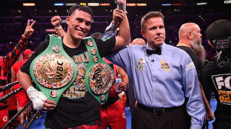 David Benavidez stops Anthony Dirrell in the 9th to reclaim the WBC super middleweight title