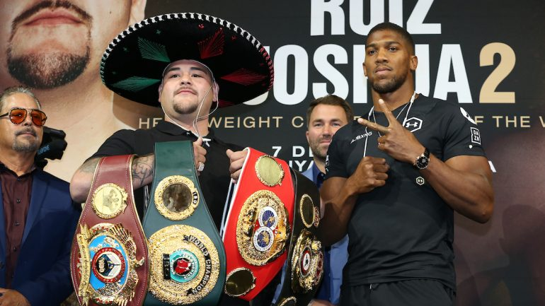 Press Release: Andy Ruiz-Anthony Joshua 2 public workout quotes