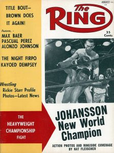 Johansson KOs Patterson Ring cover 1959 223x300 - Otto Wallin says he's ready for the 'unique' Tyson Fury, the best heavyweight