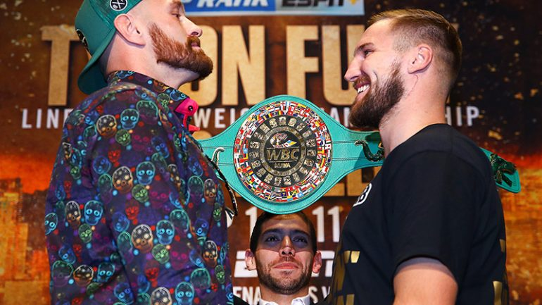 Tyson Fury keeps focus on Otto Wallin going into second Las Vegas main event