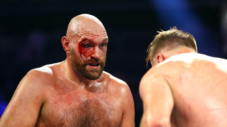 Tyson Fury survives severe cut to decision Otto Wallin