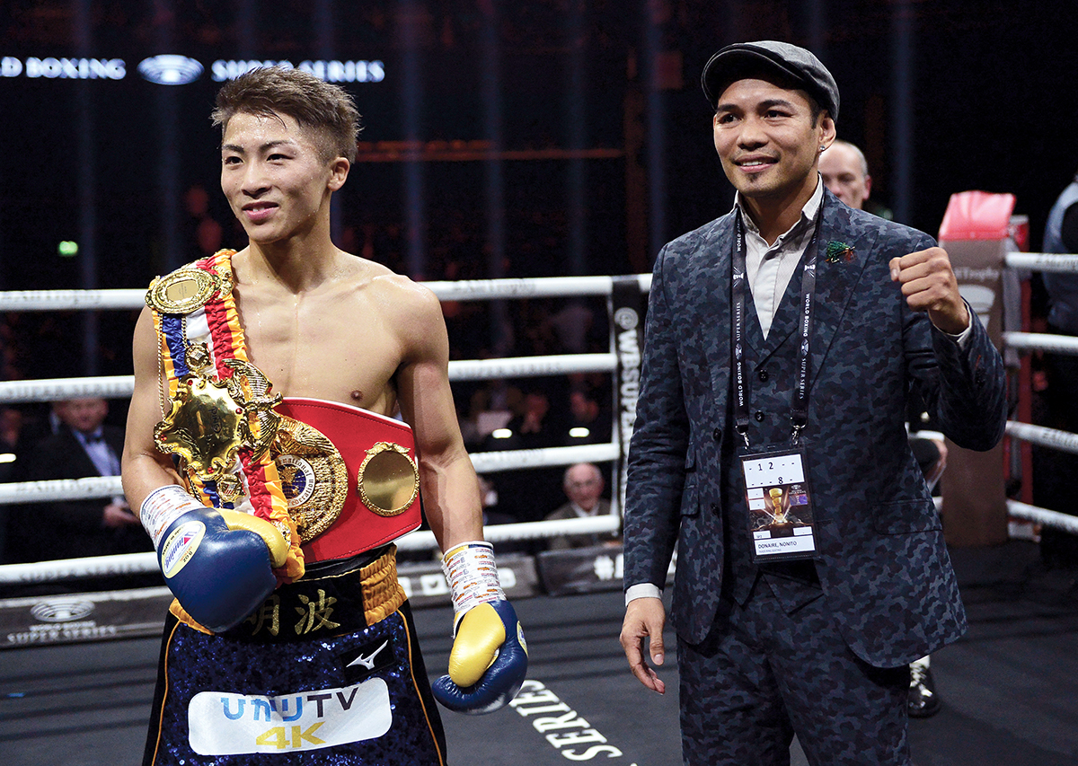Naoya Inoue (left) will face Nonito Donaire in the bantamweight final of the World Boxing Super Series on November 7 in Japan. (Photo by Mark Runnacles/Getty Images)