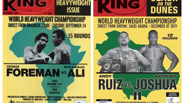 Ruiz versus Joshua 2: 'Clash on the Dunes' retro cover pays homage to 'The Rumble in the Jungle'