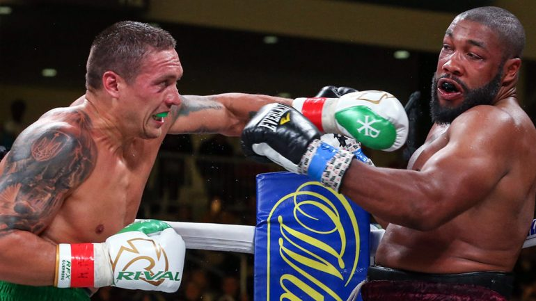 Aleksandr Usyk batters Chazz Witherspoon in heavyweight debut