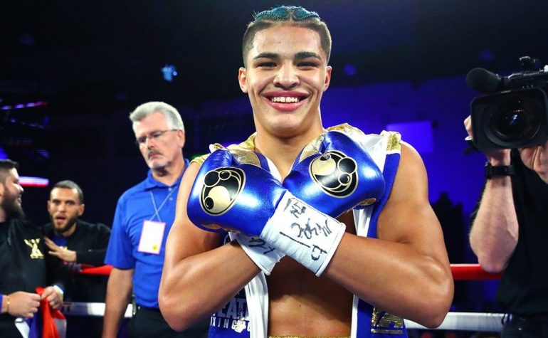 Xander Zayas Age 17 Scores First Round Ko In Pro Debut The Ring