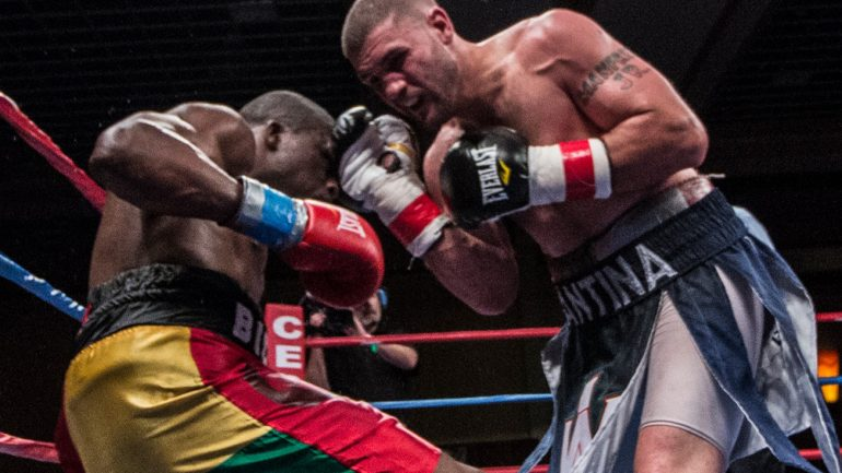 Peter Manfredo Jr., a laborer by day, returns to his labor of love in the ring