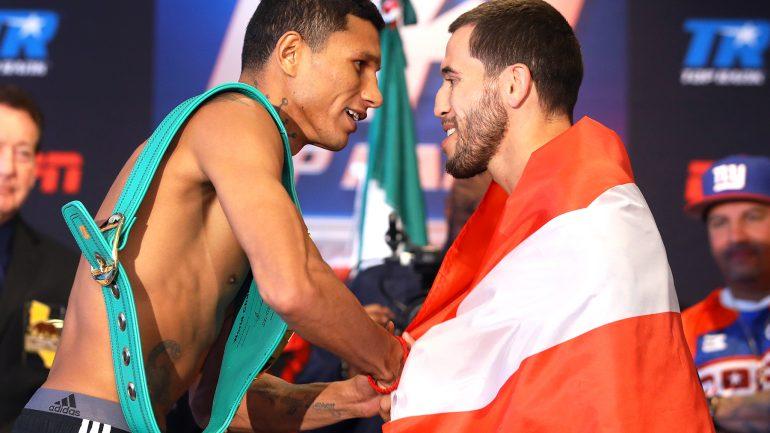 Miguel Berchelt stops Jason Sosa in four, retains junior lightweight title