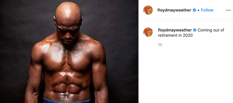 Best State To Retire In 2020.Floyd Mayweather Says He Ll Un Retire In 2020 Work With