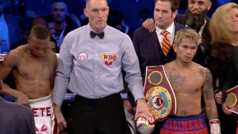 John Riel Casimero knocks out Zolani Tete in 3, wins WBO bantamweight title