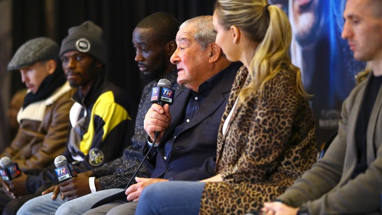 Bob Arum brings the fire on quiet Crawford-Kavaliaskaus fight week