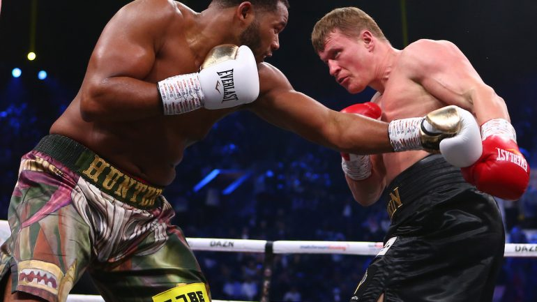 Michael Hunter and Alexander Povetkin fight to a 12-round split draw