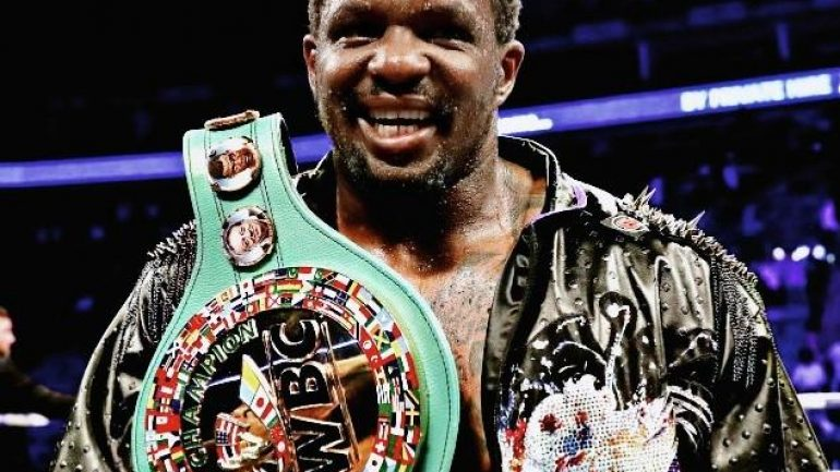 WBC reinstates Dillian Whyte as mandatory heavyweight title challenger