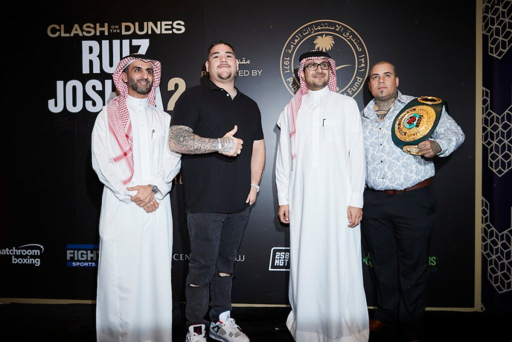 MDR25835 1024x683 - Press Release: Andy Ruiz and Anthony Joshua face the media at arrivals party