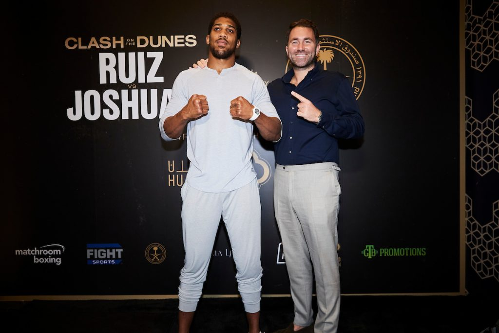 MDR26398 1024x683 - Press Release: Andy Ruiz and Anthony Joshua face the media at arrivals party