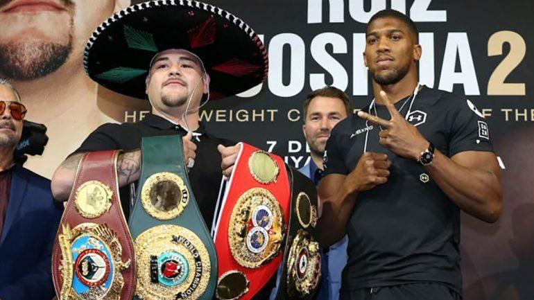Fight Picks: Andy Ruiz vs. Anthony Joshua 2