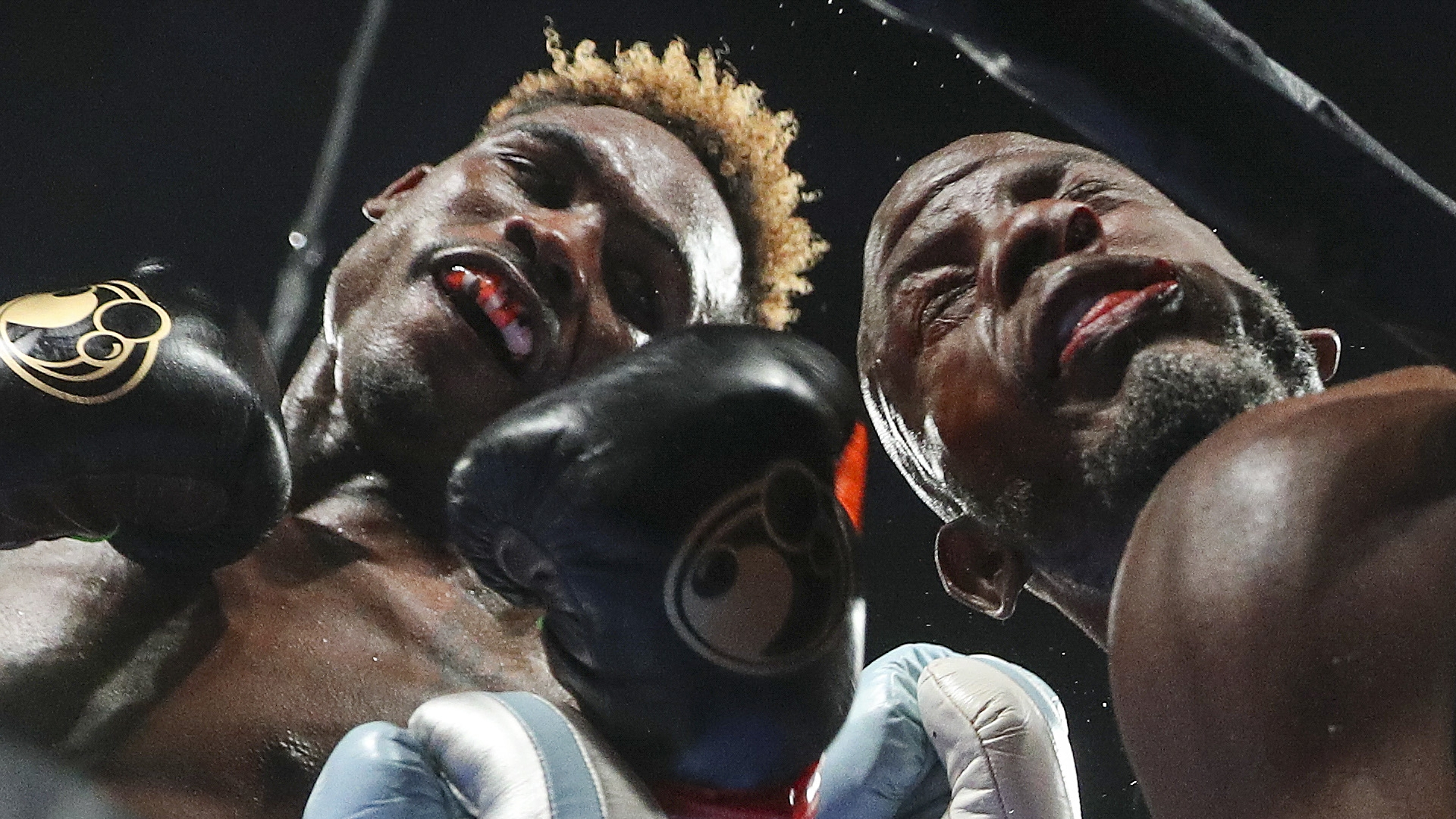 Jermell Charlo (left) avenged his 2018 loss to Tony Harrison with a knockout in December of 2019. (Photo by Stephanie Trapp)