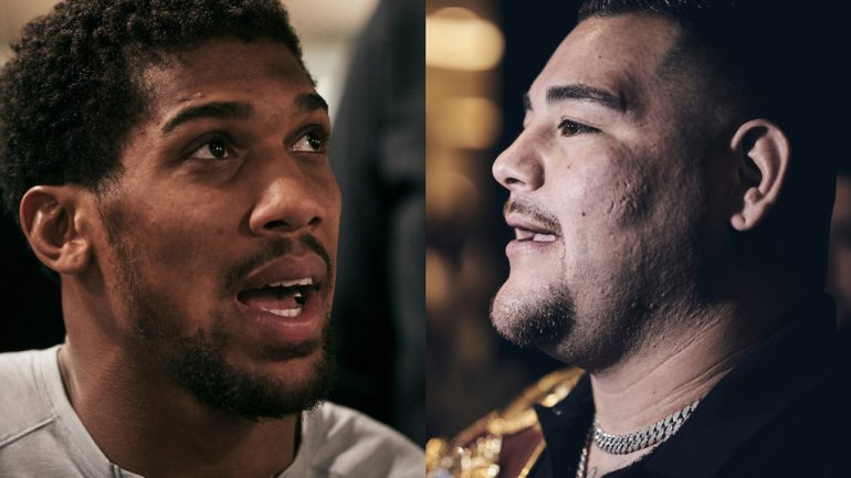 Press Release: Andy Ruiz and Anthony Joshua face the media at arrivals party