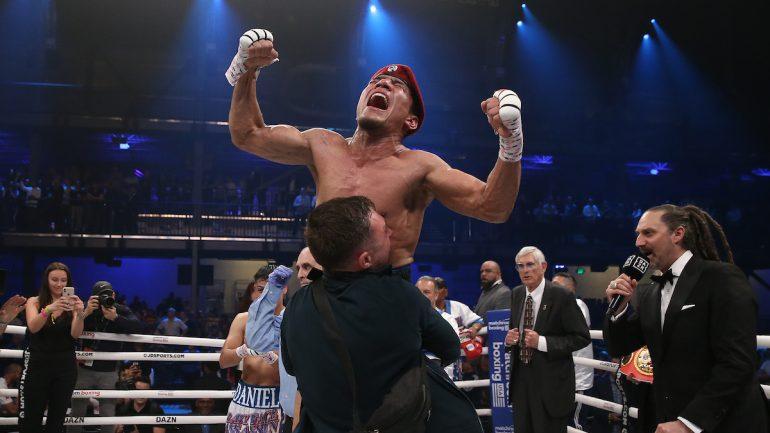Murodjon Akhmadaliev halts Ryosuke Iwasa in five, stoppage premature