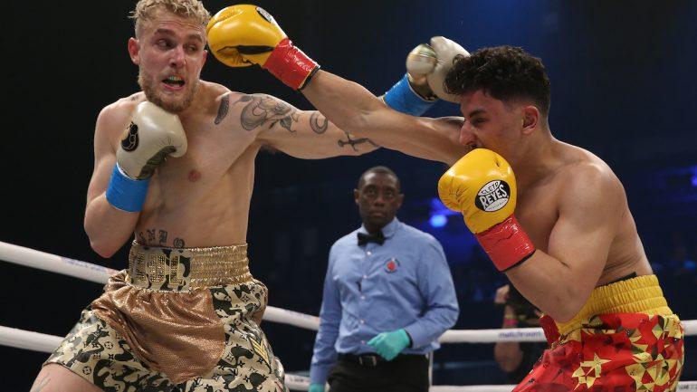 Jake Paul drops Ali Eson Gib three times, wins battle of YouTubers in 1