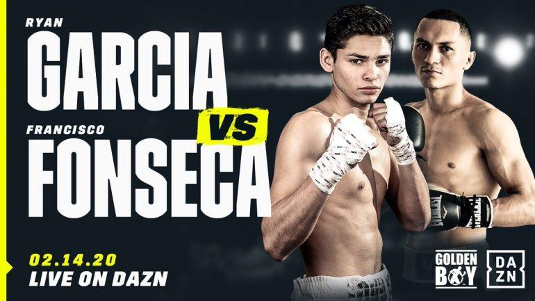 Ryan Garcia returns February 14 against Francisco Fonseca, headlines DAZN show in Anaheim, California