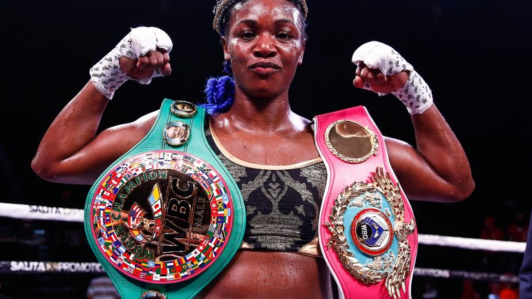 Claressa Shields makes history as the fastest fighter to win titles in three divisions