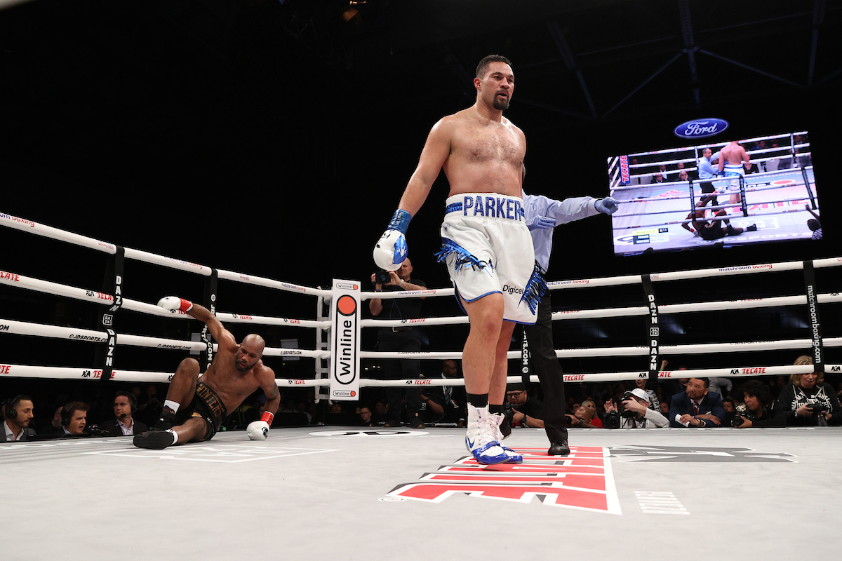 Alexis Texas Boxing joseph parker kos shawndell winters in 5 rounds to win third