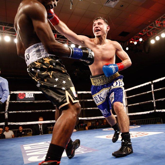 Alejandro Guerrero (right) vs. Jose Angulo. Photo courtesy of Showtime Boxing