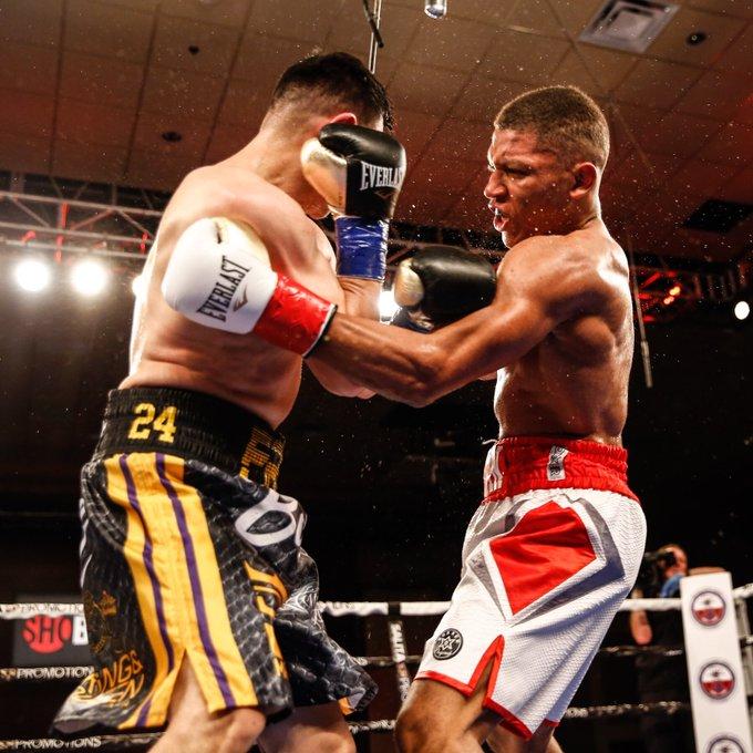 Brian Norman Jr. (right) vs. Flavio Rodriguez. Photo courtesy of Showtime Boxing
