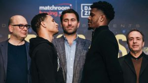 prograis vs hooker 022720 westcott dazn 1luqb4hpysewb1vp2mjhb9aotk 300x169 - Dougie's Friday mailbag (the best I've seen, Michael Nunn, Mike McCallum, mythical matchups)