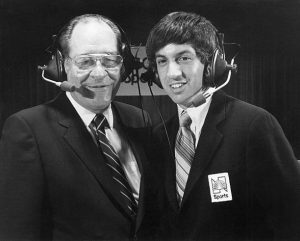 Dr. Ferdie Pacheco and Marv Albert 300x241 - A Fan Remembers: Bobby Chacon vs. Cornelius Boza-Edwards II