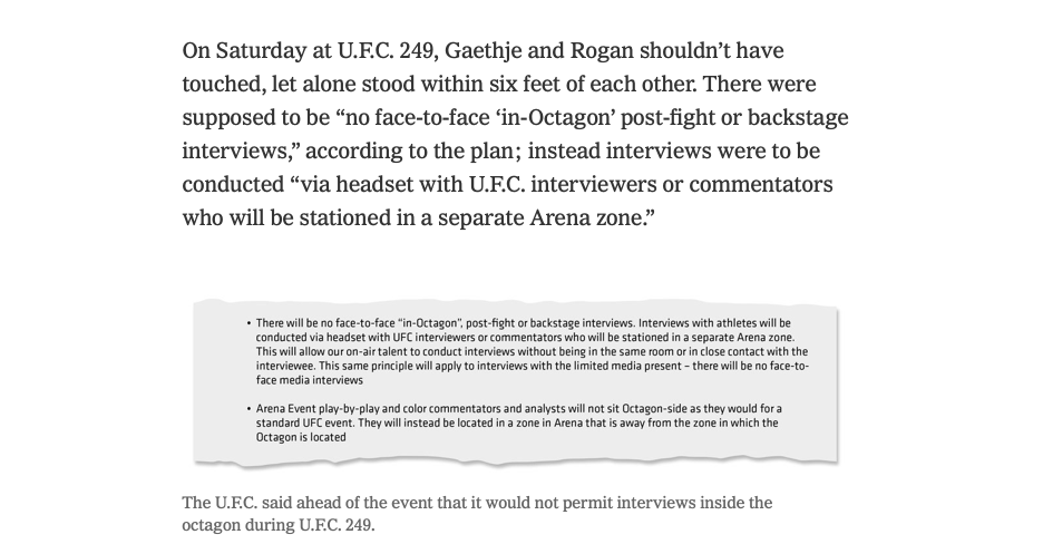 Screen Shot 2020 05 14 at 10.55.22 PM - New York Times reporter hits a nerve, or three, in Dana White