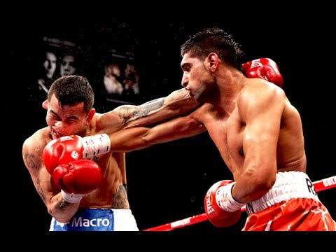 Amir Khan (right) vs. Marcos Maidana. image courtesy of YouTube