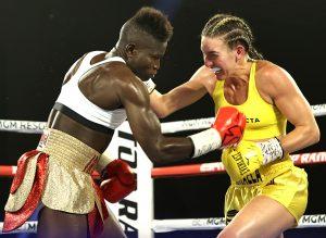 Mikaela Mayer vs Helen Joseph action7 300x219 - Women's Ring Ratings Update: new rankings, Atomweight to Junior Lightweight