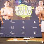 OrtizVargasWeighIn Hoganphotos1 150x150 - Photos: Vergil Ortiz, Samuel Vargas make welterweight limit for Golden Boy return