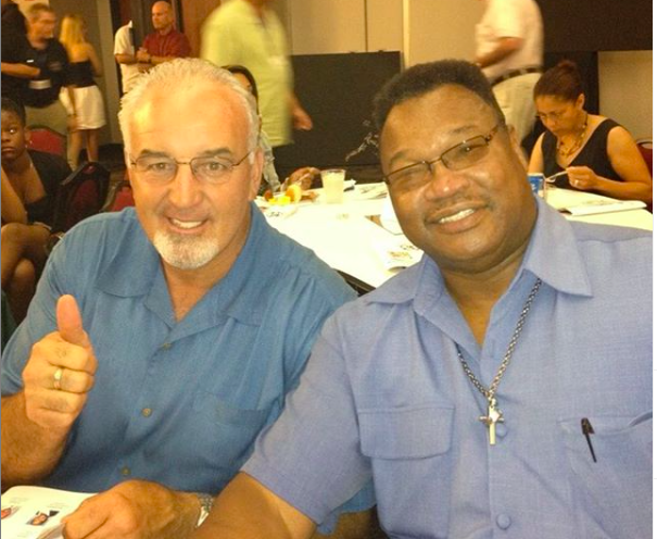 Gerry Cooney and his pal, ex rival Larry Holmes.