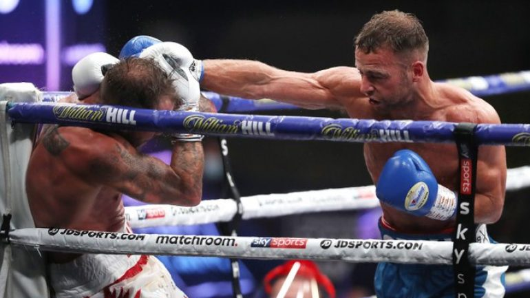 Felix Cash retains his Commonwealth middleweight title by stopping Jason Welborn