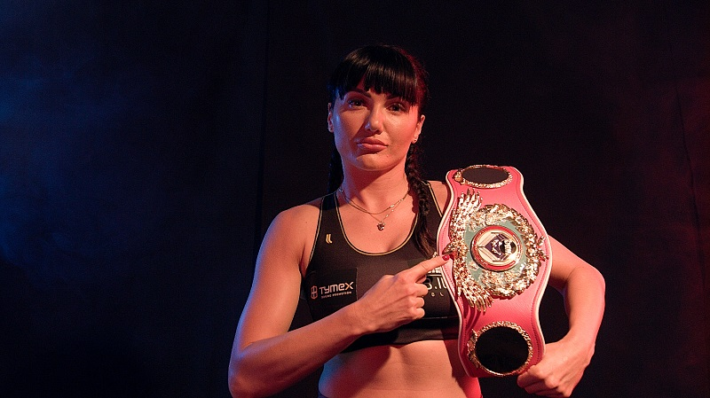 WBO female junior lightweight titlist Ewa Brodnicka. Photo courtesy of the World Boxing Organization