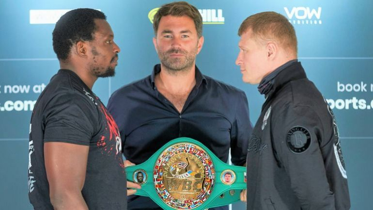 Matchroom announce schedule for early 2021, includes Alexander Povetkin-Dillian Whyte 2