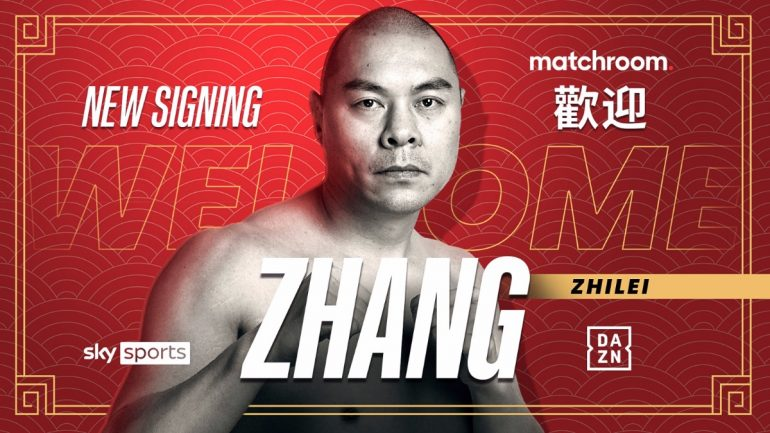 Zhang Zhilei signs promotional deal with Matchroom Boxing